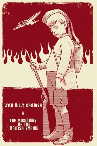 Billy Childish Poster by Henry - WONKY Illustration