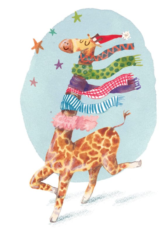 Giraffe Scarf by Sophie B - WONKY Illustration