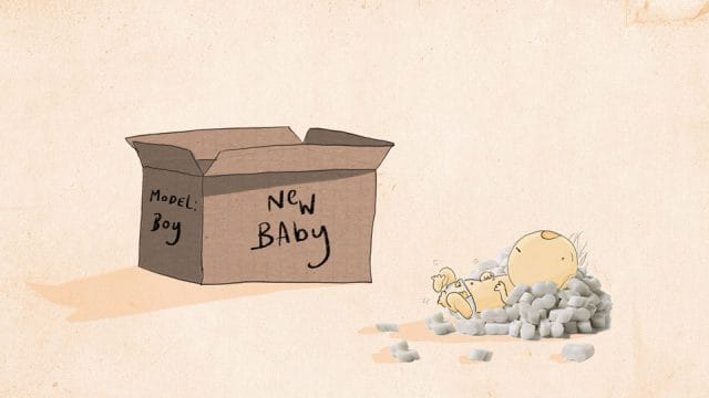 New Baby by Tom D - WONKY Illustration