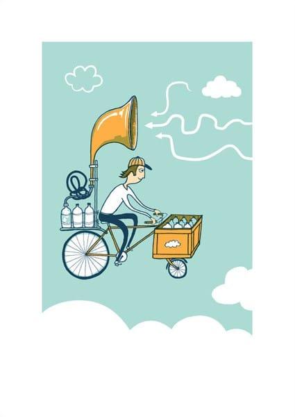 Sky Bike by Carys - WONKY Illustration