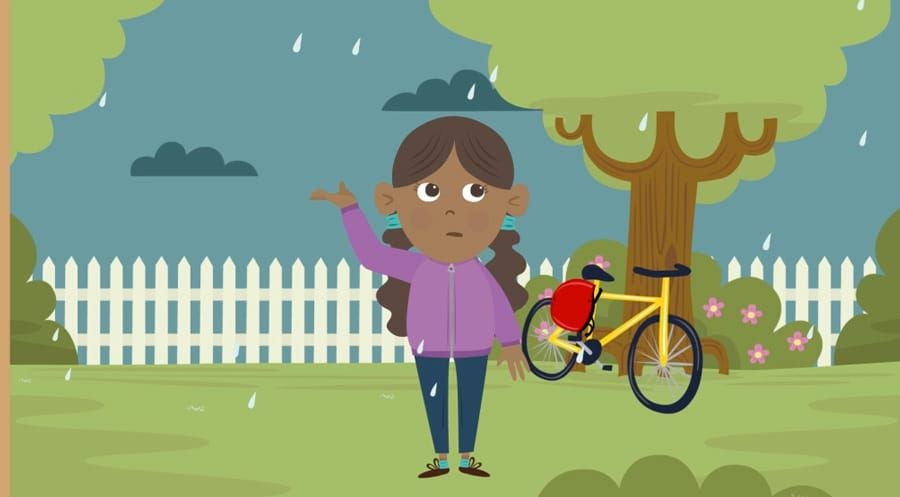 Out in the rain - WONKY Illustration